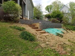 Retaining wall step 3
