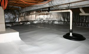 Sealed crawl space