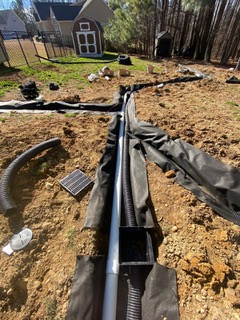 French Drain & Downspouts #6